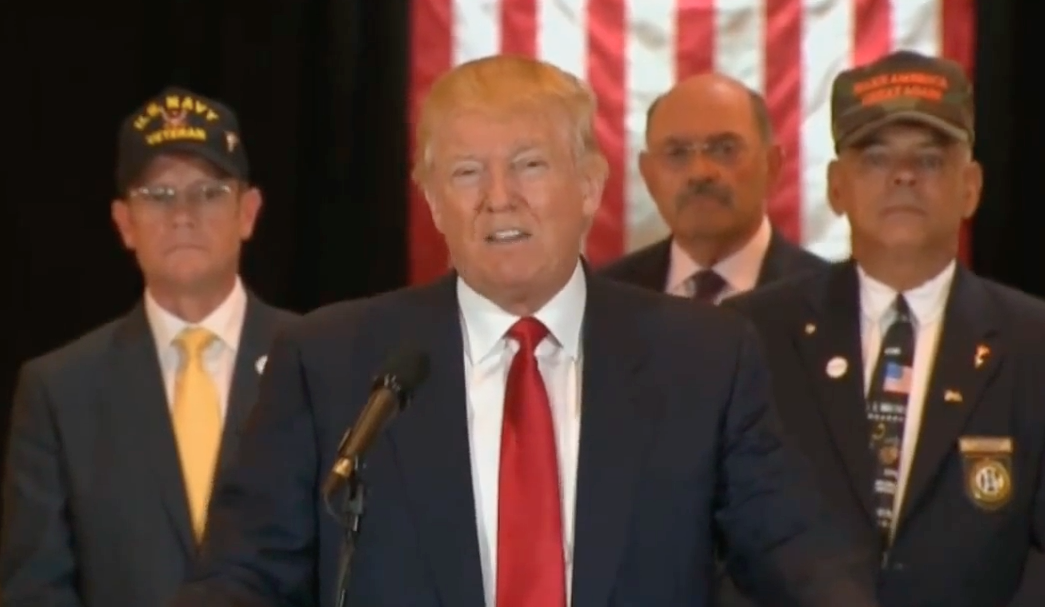 Image: Donald Trump's press conference on Veteran donations at Trump Tower (Video)