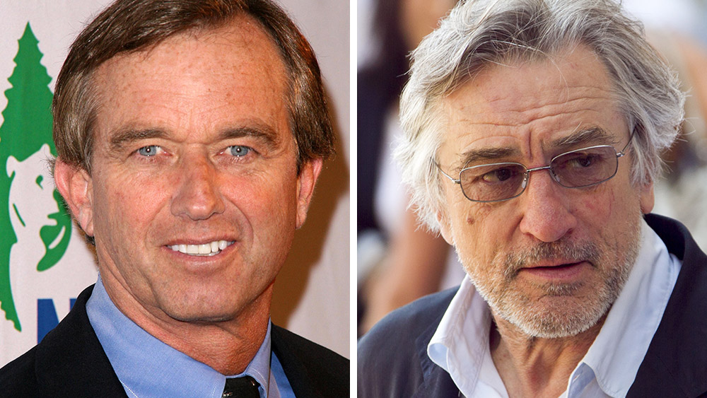 "Image: Bombshell ""mercury in vaccines"" challenge to be announced tomorrow by Robert F. Kennedy Jr. and Robert De Niro"
