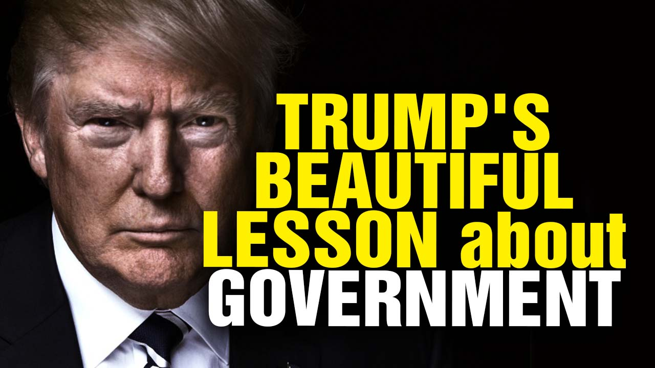 Image: Trump's Beautiful Lesson About Government (Video)