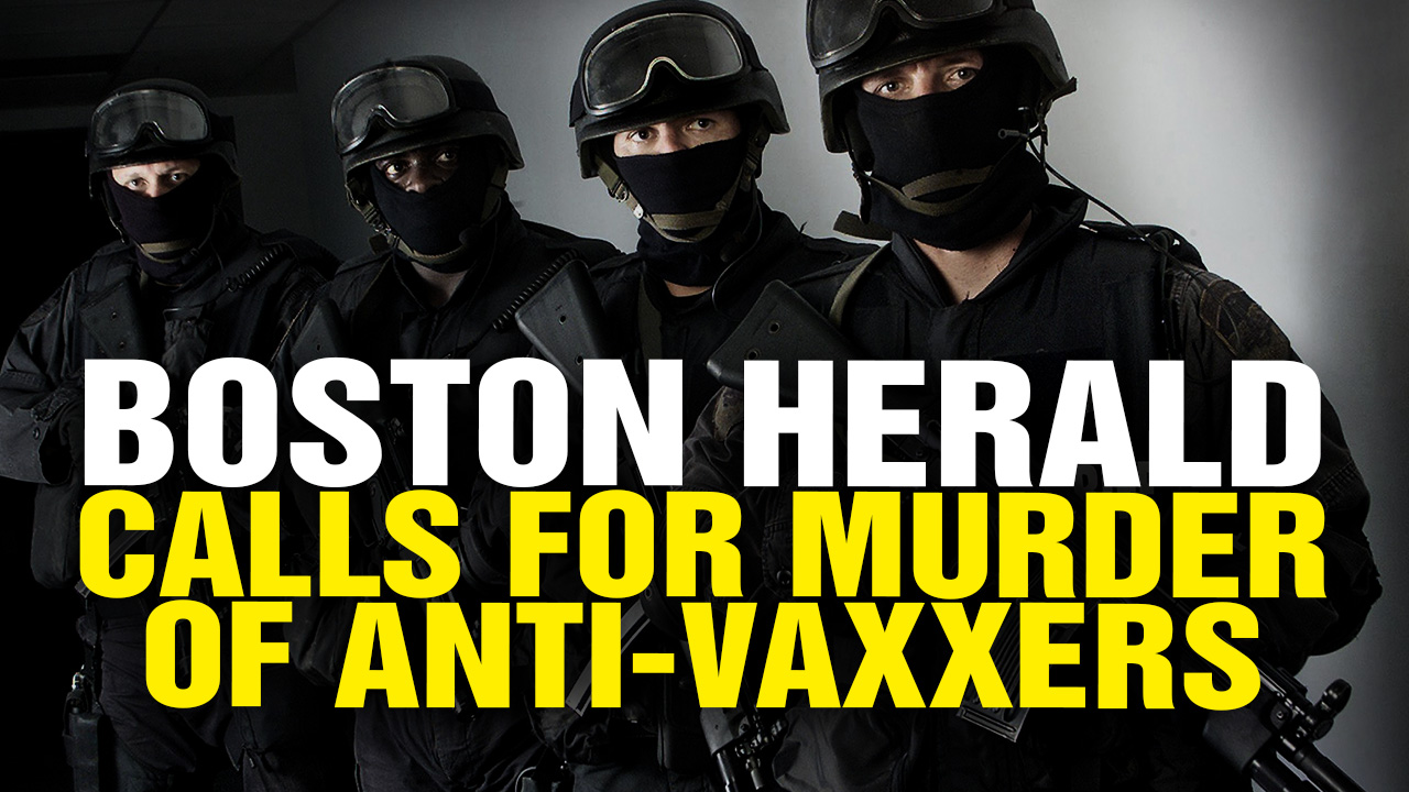 Image: Boston Herald Calls for Mass Executions of Anti-Vaxxers (Video)