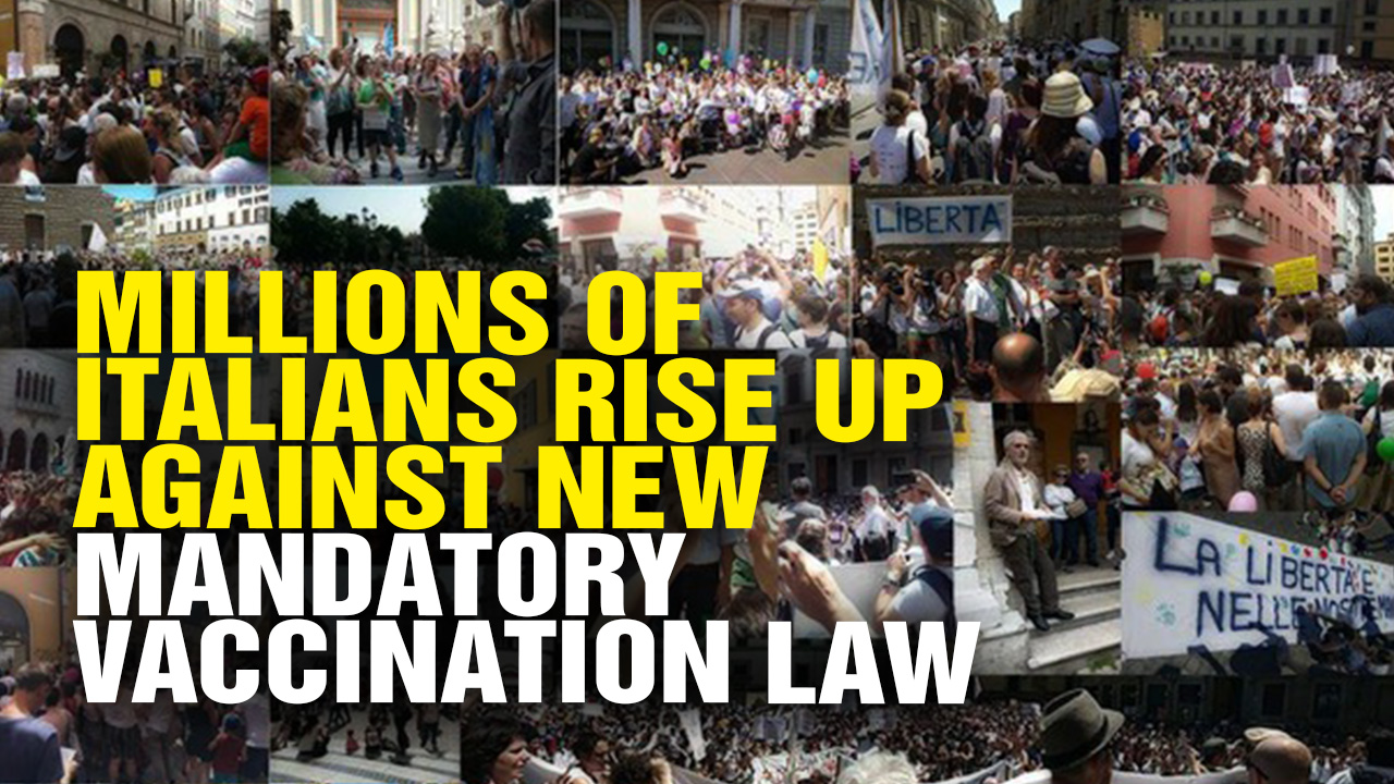 Image: Millions Of Italians Rise Up Against New Mandatory Vaccination Law (Video)